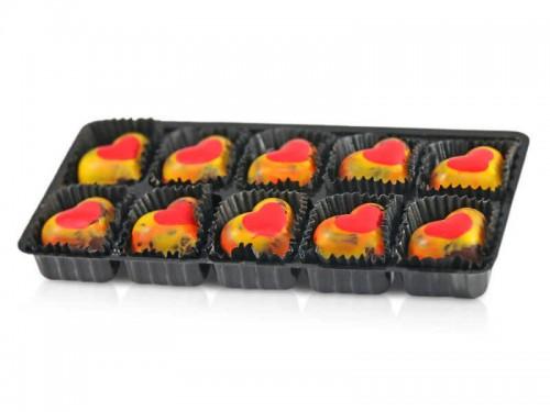 Muttertagspralinen Erdbeer-Chili Blister