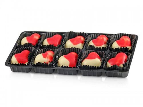 Muttertagspralinen Erdbeer Joghurt Blister