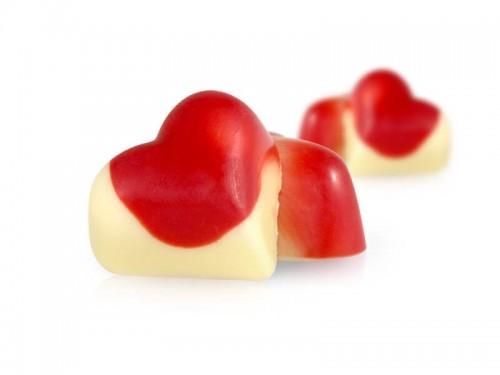 Muttertagspralinen Erdbeer Joghurt - Herzen