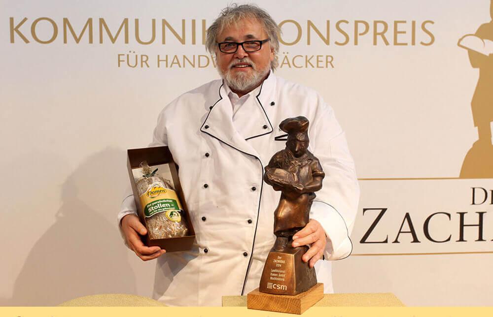 Manfred Oomen mit dem Komunikationspreis Zacharias